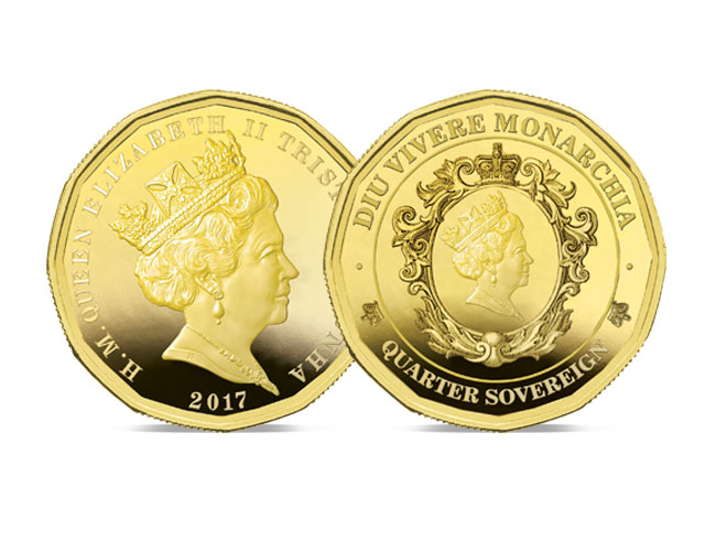 The 2017 Twelve-sided Gold Quarter Sovereign