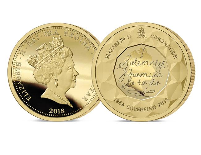 2018 Sapphire Coronation Jubilee Gold sovereign