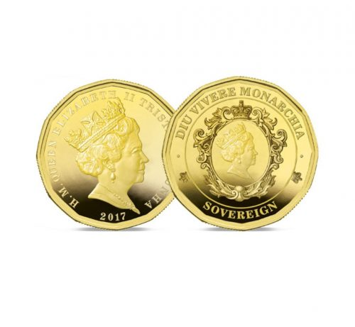 Image of The 2018 12-sided Gold Sovereign