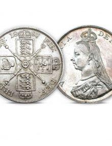 Queen Victoria Silver Double Florin of 1887-1890