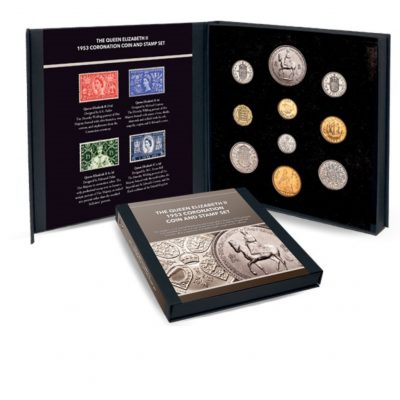 Image of the Queen Elizabeth II Coronation Coin and Stamp Set