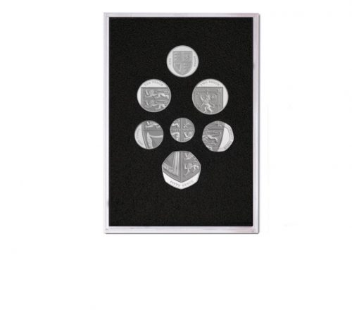 Image of Queen Elizabeth II Proof Quality Coin Set in Silver of 2008