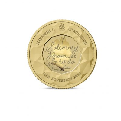 The 2018 Sapphire Coronation Jubilee Gold Sovereign.