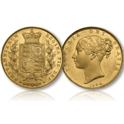 Image of The Queen Victoria Gold Sovereign of 1838-1874