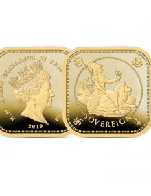 Image of The 2019 Four Sided Gold Proof Sovereign