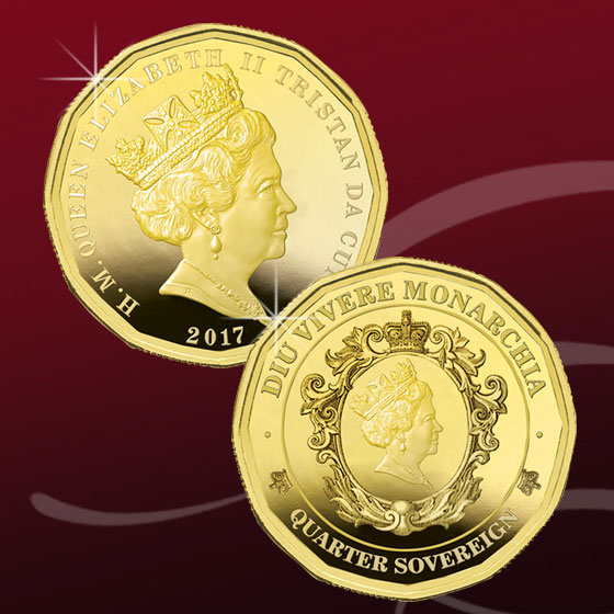 An image of the 2017 Twelve Sided Quarter Sovereign