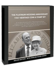 Image of The Platinum Wedding Anniversary 1947 Heritage Coin and Stamp Set