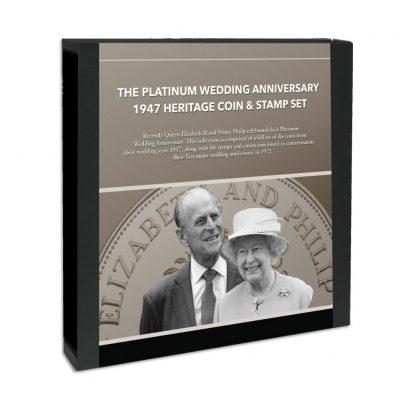 The Platinum Wedding Anniversary Coin Set of 1947