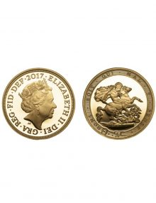 The Queen Elizabeth 2017 Proof Quarter Sovereign image
