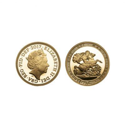 The Queen Elizabeth 2017 Proof Quarter Sovereign image