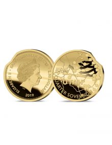 Image of The Heroes of Utah Beach Gold Quarter Sovereign