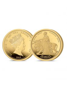 Image of The 2019 Queen Victoria 200th Anniversary 24 Carat Gold Quarter Sovereign