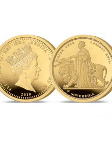 Image of The 2019 Queen Victoria 24 Carat Gold Sovereign