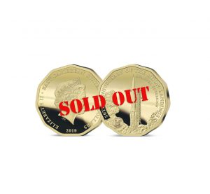 The 2019 Moon Landing 50th Anniversary Gold Quarter Sovereign - SOLD OUT