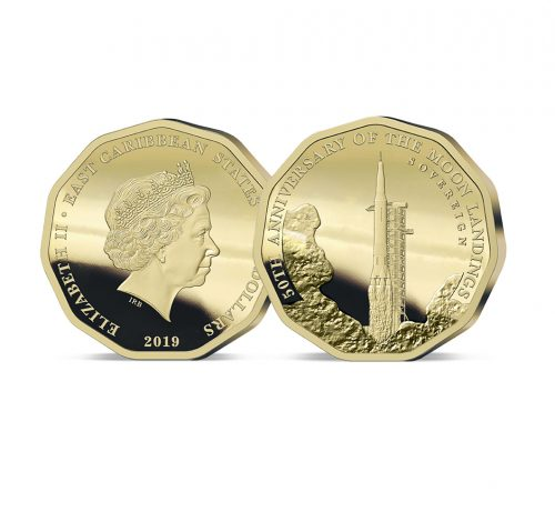 The 2019 Moon Landing 50th Anniversary Gold Sovereign