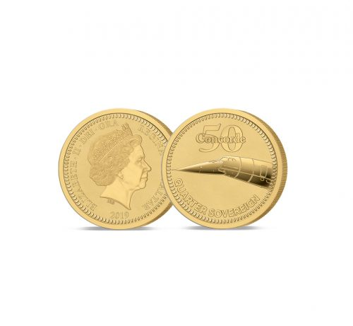 Image of the 2019 Concorde 50th Anniversary Gold Quarter Sovereign