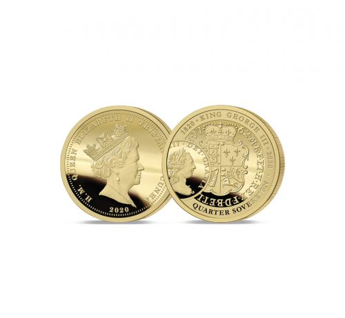 The 2020 King George III 200th Anniversary Gold Quarter Sovereign