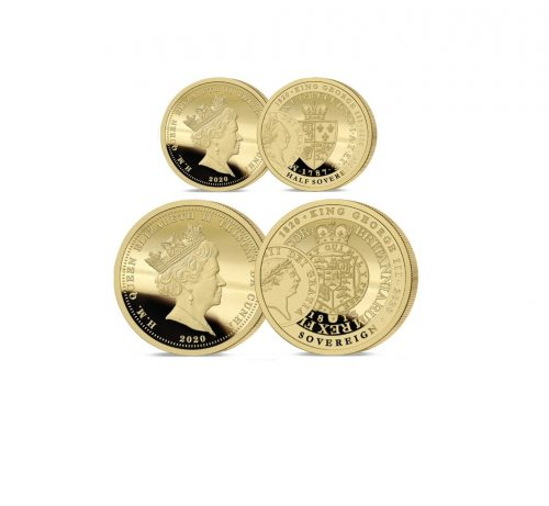 The 2020 George III 200th Anniversary Gold Half and Full Sovereign Set