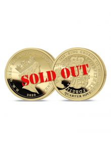 King George III 200th Anniversary Gold Quarter Sovereign SOLD OUT