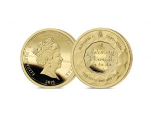 The 2018 Sapphire Coronation Jubilee Gold £50 Sovereign