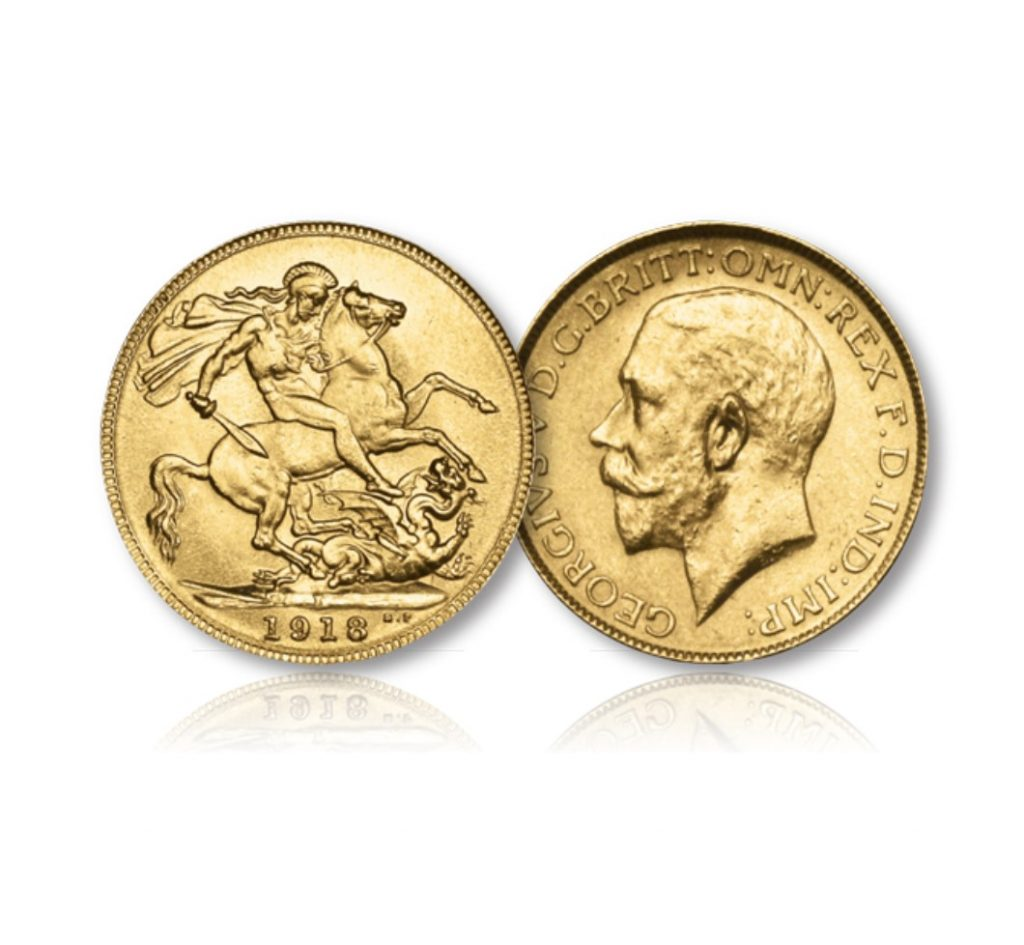 The King George V Gold Sovereign of the Bombay Mint of 1918