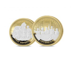 The 2020 VE Day 75th Anniversary Gold Half and Full Sovereign Set