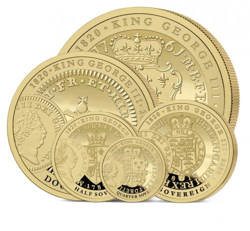 The 2020 George III 200th Anniversary Heritage Gold Definitive Sovereign Set