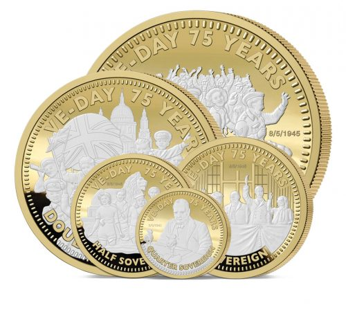 The 2020 VE Day 75th Anniversary Gold Definitive Sovereign Set