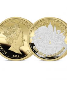 The VE Day 75th Anniversary Gold Double Sovereign