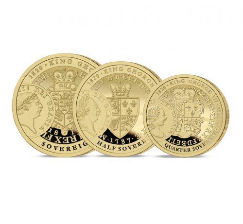 The George III 200th Anniversary Gold Prestige Set