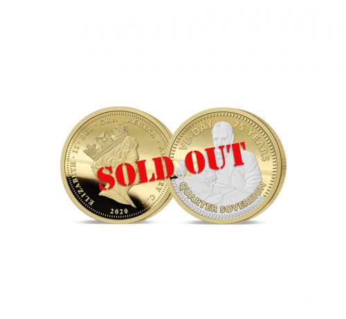 The 2020 VE ay 75th Anniversary Gold Quarter Sovereign - SOLD OUT