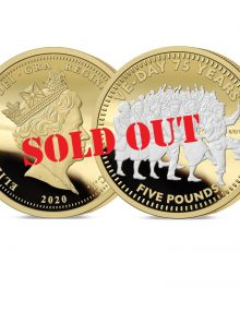 The VE Day 75th Anniversary Gold Five Pounds - SOLD OUT