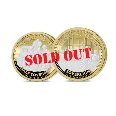 The VE Day 75th Anniversary Gold Half and Full Sovereign - SOLD OUT