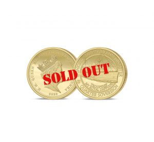 The Dunkirk 80th Anniversary Gold Quarter Sovereign SOLD OUT