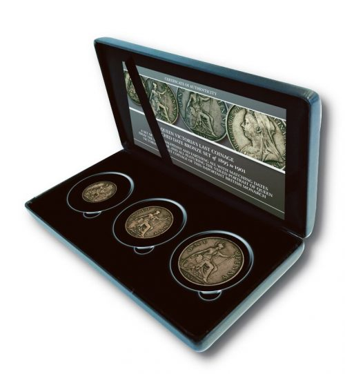 The Queen Victoria 1895-1901 Veiled Portrait 3 coin Set