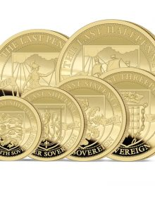 The 2020 Pre-decimal 50th Anniversary Gold Definitive Sovereign Set