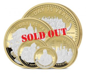 The VE Day 75th Anniversary Gold Sovereign Range has reached it's Sell Out Guarantee