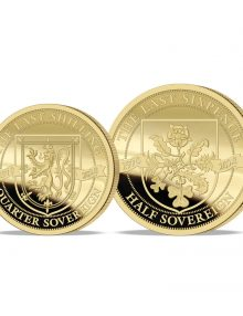 The 2020 Pre-decimal 50th Anniversary Gold Fractional Quarter and Half Sovereign Set