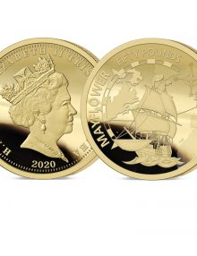 The 2020 Mayflower 400th Anniversary Gold Fifty Pounds Sovereign