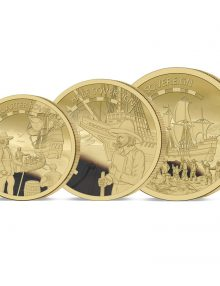 The 2020 Mayflower 400th Anniversary Gold Prestige Sovereign Set
