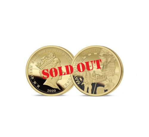 The 2020 Mayflower 400th Anniversary Gold Quarter Sovereign has SOLD OUT