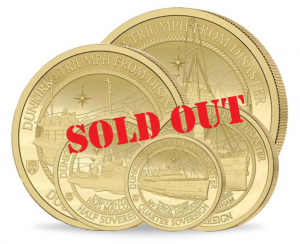 The 2020 Dunkirk 80th Anniversary Gold Sovereign Range Sell Out