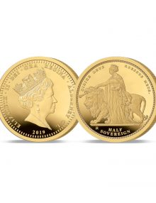 The 2019 Queen Victoria 200th Anniversary 24 Carat Gold Half Sovereign