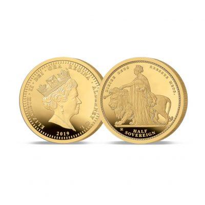 The 2019 Queen Victoria 200th Anniversary 24 Carat Gold Half Sovereign