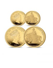 The 2019 Queen Victoria 200th Anniversary 24 Carat Gold Half and Full Sovereign Set