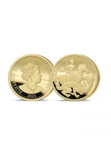 The 2021 George and the Dragon 200th Anniversary Gold One-Eighth Sovereign
