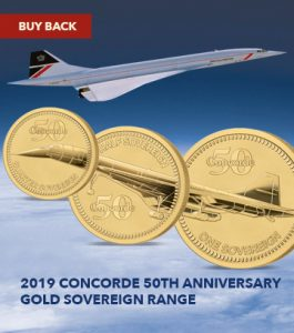 The 2019 Concorde 50th Anniversary Gold Sovereign Range Buy Back