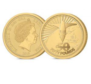 The 2019 Concorde 50th Anniversary Gold 5 oz £50 Sovereign