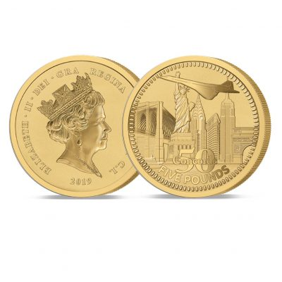 The 2019 Concorde 50th Anniversary Gold Five Pound Sovereign