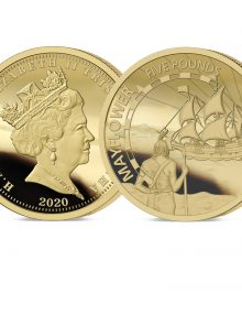 The 2020 Mayflower 400th Anniversary Gold Five Pound Sovereign